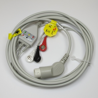 ECG 3 Lead Trunk CBL & Snap Lead Set (IEC) for Goldway