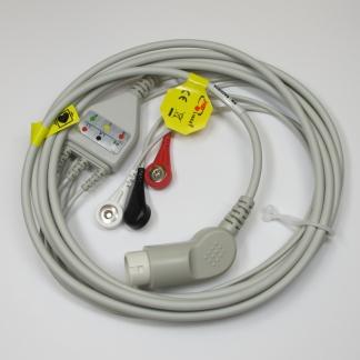 ECG 3 Lead Trunk CBL & Snap Lead Set (IEC) for Goldway
