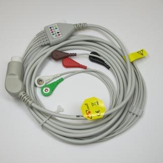 ECG 5 Lead Trunk CBL & Snap Lead Set (IEC) for Goldway